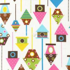 Urban Zoologie Spring Birdhouses by Ann Kelle for Robert Kaufman, 1/2 yd fabric