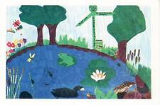 L105. Bevere Vivis Postcard. Green Worcester. Designed by children