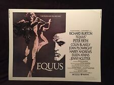 Vintage 1977 EQUUS Half Sheet Movie Poster 22 x 28 Richard Burton