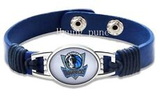 Dallas Mavericks NBA Genuine Leather Adjustable Bracelet Charm Jewelry