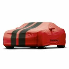 2013-2015 CHEVY CAMARO CAR COVER IN RED WITH CAMARO EMBLEM-PART #92223303