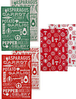 Tea Towels Set Of 2 Cotton Kitchen Cafe Dish Glasses Drying Cleaning Cloths New