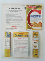 1963 Kellogg's Concentrate Breakfast Cereal Nutrition Vintage Magazine Print Ad
