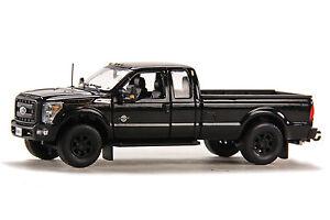 """Ford F250 Super Cab 8 Ft Bed - """"BLACK"""" - Black Wheels 1/50 - Sword #SW1100KM"""