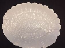 """17"""" Platter By Harvest Stoneware, Embossed Turkey Great for the Holidays"""