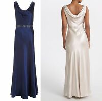ex John Lewis Dessa Maxi Occasion Wedding Bridesmaid Satin Dress