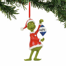 Dept 56 Grinch 2017 Naughty Or Nice Ornament #4057457 New Free Shipping 48 State