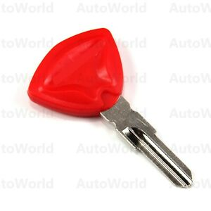 32MM Motorcycle Uncut Blade Blank Key For CAN-AM SPYDER TRIKE GS 990 RS Red