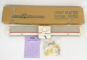 VTG Singer Light Knitting Machine Model LK150 Set6.5/13MM W/Box Manuel & Extras