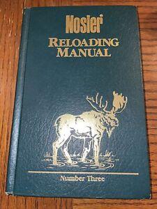 Vtg Nosler Reloading Manual Number 3, Hardcover 1989 Made In USA