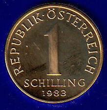 AUSTRIA 1 SCELLINO SCHILLING 1983 #8413