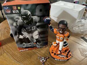 "NFL Denver Broncos Von Miller 12"" Bobblehead & Spinner FOCO 44 Of 2,058 NEW"