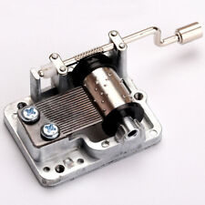 Transparent Retro DIY Mechanical Hand Crank Metal Music Case Movement Part Gift