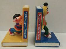 Sesame Street 1993 Ceramic Bookends Vintage Rare 2 Pieces Ernie & Bert