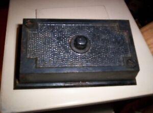 Antique Elevator/Door Bell Push Button, Cast Iron