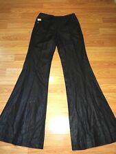 NWT SEVEN FOR ALL MANKIND SHINY BLACK FLARE DRESS PANTS SIZE 25s
