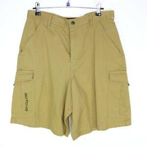 Gotcha Mens Cargo Shorts Tan Size W28