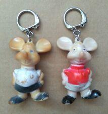 Vintage Topo Gigio Italian Puppet Mouse Keyrings.