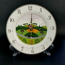 Villeroy & Boch DESIGN NAIF LAPLAU Porcilean Wall Clock Man Hunter Dog