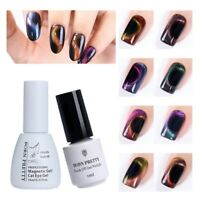 Holographic Chameleon Magic 3D Cat Eye UV Gel Nail Polish Magnetic Gel Varnish