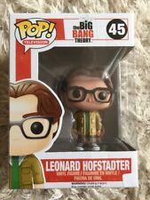 Boxed funko pop vinyl figure 45 Big Bang Theory Leonard Hofstadter Rare Xmas