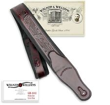 Walker & Williams GB-103 Oxblood Brown Padded Strap Live Oak Pattern