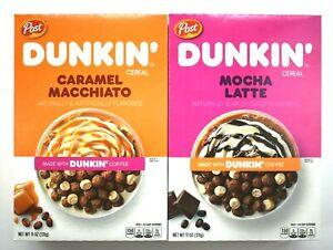 Dunkin Post Breakfast Cereal 11 oz Pick Flavor Mocha Latte Caramel Macchiato