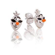 DISNEY 14K WG Plated Olaf at the Beach Stud Earrings $29.00 RRP