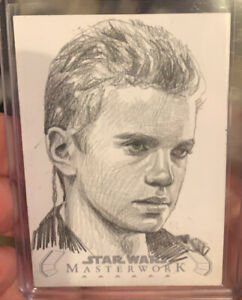 Topps Masterwork Sketch Card Anakin Skywalker Hayden Angelina Benedetti Auto