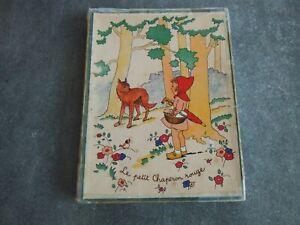 Ancienne boite de puzzles en bois Le Chaperon Rouge