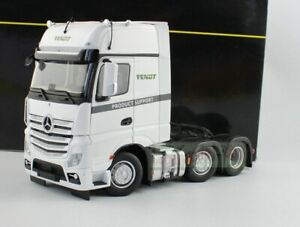 1/32 Marge Models Mercedes Benz Actros 6x2 Heavy Duty Truck Tractor White