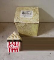 Limoge Style Trinket Box Hinged Treasure Box Miniature Popcorn Box MOVIE TIME