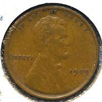 1909 VDB 1C Lincoln Cent (60751)