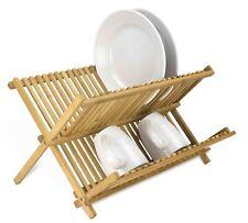 Home Basics DD01018 Foldable Bamboo Dish Drainer