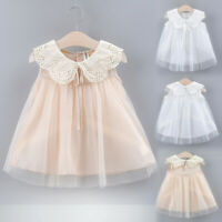 Toddler Kid Baby Girls Bow Lace Mesh Tulle Party Wedding Princess Dress Clothing