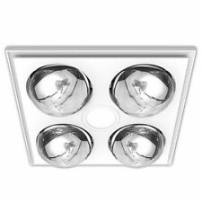Heller 3 in 1 Bathroom Ceiling, Heater, Exhaust Fan - LED Light, White
