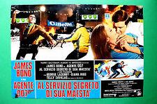 T01 FOTOBUSTA AGENTE 007 AL SERVIZIO SEGRETO DI SUA MAESTA' JAMES BOND LAZEMBY
