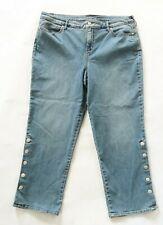 NEW Gloria Vanderbilt Womens Stretch Denim Rail Straight Cropped Jeans Size 16