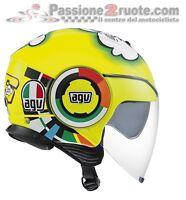Casco Jet Agv Fluid Valentino Rossi Misano L moto scooter helmet casque helm