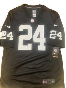 NFL Football T-Shirt Oakland Raiders Marshawn Lynch 24 Black Jersey NWT