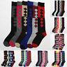 6 Pairs Lot Women's Assorted Print Knee High Socks Fashion Winter Size 9-11 New