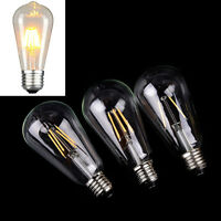 LED lamp st64 vintage edison bulb e27 incandescent bulb 220v 2w 4w 6w light  YK