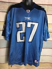 Reebok NFL Mens Size XL Tennessee Titans Eddie George Blue Jersey