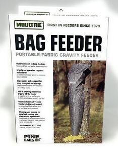 Moultrie Portable Fabric Gravity Bag Feeder Moultrie Pine Bark Camo Bag Feeder