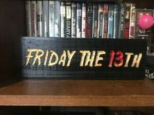 Carved Friday The 13th HORROR Wood Shelf Display Sign Home Décor DVD Blu-ray