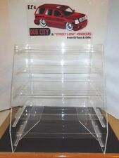 ACRYLIC  OPEN DISPLAY RACK WITH FIVE (5) SLIDE OUT  SHELVES