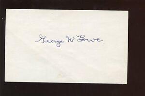 George W. Lowe Autographed Index 1920 Cincinnati Reds Card Hologram