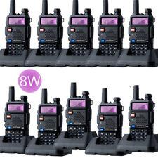 10PCS Baofeng UV-5R 8W Walkie Talkie Triple Power 8/4/1 Watts VHF UHF UV5R Radio