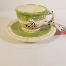 Mary Engelbreit Cup Saucer Rose Patch Nwt Tea Cup with Saucer Enesco 1998