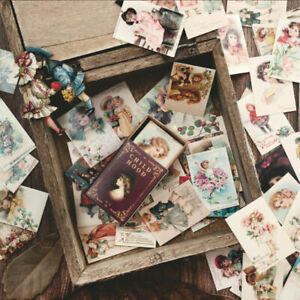 100Pcs/Lot Vintage Paper Card Collection Of Books Retro Style Boxed Stickers US